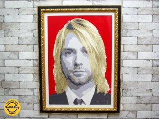 ジャッキー・シェフィンズ Jackie Cheffins カート・コバーン Kurt Cobain アートポスター / アートフレーム 額装品 直筆サイン入り ●