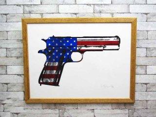 レニー・ギャグノン Rene Gagnon The American Way アートポスター / アートフレーム シルクスクリーン 額装品 直筆サイン入り ●