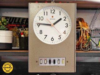 ナショナル National ベルタイマー 掛時計 ビンテージクロック レトロ インダストリアルスタイル 時計動作確認済●