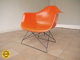 ハーマンミラー HermanMiller C&R. イームズ アームシェルチェア 現行FRP製 アイコンカラー オレンジシェル キャッツクレイドルベース ローロッドベース = LAR 状態良好 ◇