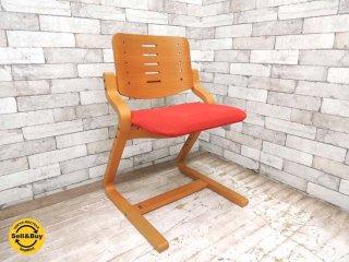 フォルミオ FORMIO デスクチェア KF-02 シートクッション付 レッド GKデザイン 学習椅子 ●