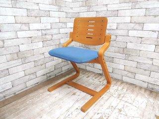 フォルミオ FORMIO デスクチェア KF-02 シートクッション付 ブルー GKデザイン 学習椅子 ●
