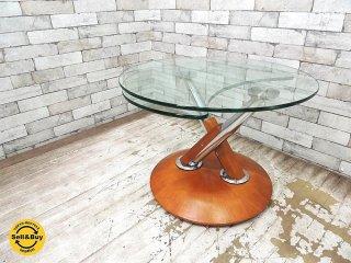ロナルドシュミット Ronald Schmitt 可動式 ガラステーブル コーヒーテーブル サイドテーブル ●