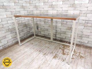 ビスレー BISLEY デスクプラン ブラックメラミン天板 + Lフット2個 机 ワーキングテーブル W120cm 英国家具 ●