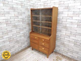 ウニコ unico クルト KURT カップボード キャビネット 食器棚 オーク材 北欧ヴィンテージスタイル ●
