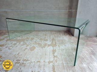 コンチネンタルファニチャー Continental Furniture サターン SATURN ガラスローテーブル 幅120cm IDC大塚家具取扱い ♪