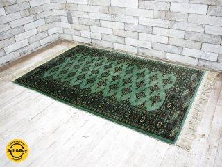 ペルシャ絨毯 トルクメン産 シルク / ウール 混合 140×83cm 56万ノット ●
