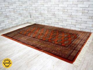 ペルシャ絨毯 トルクメン産 205×129cm 72万ノット ●