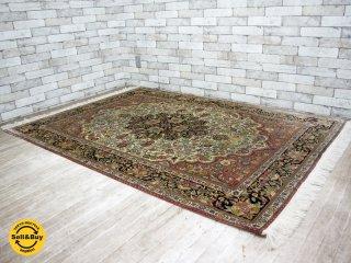 ペルシャ絨毯 ナイン産 シルク / ウール 混合 210×139cm 72万ノット ●