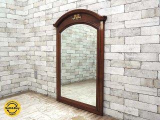 バーマックス BAMAX 木製 ウォールミラー 壁掛け鏡 W70.3xH104cm ヨーロピアン クラシック アンティークスタイル イタリア ●