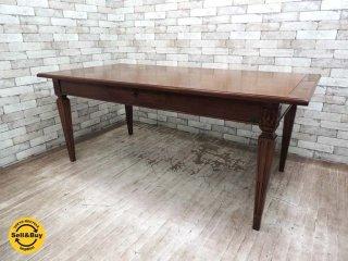 バーマックス BAMAX 木製 ダイニングテーブル W180cm ヨーロピアン クラシック アンティークスタイル イタリア ●