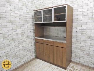 ウニコ unico ストラーダ STRADA キッチンボード レンジボード 食器棚 W120cm 廃盤 ●