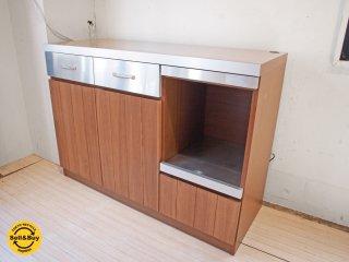 ウニコ unico ストラーダ STRADA キッチンカウンター ステンレス×アッシュウッド 幅120cm ★