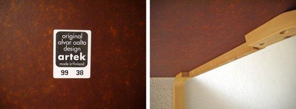 アルテック artek 81C テーブル アルヴァアアルト Alvar Aalto メラミン天板 ホワイト × バーチ材 ナチュラル W750 北欧家具 フィンランド ◇
