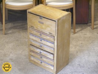 ジャパンヴィンテージ 木味 木製キャビネット みや古染 染料入れ ■