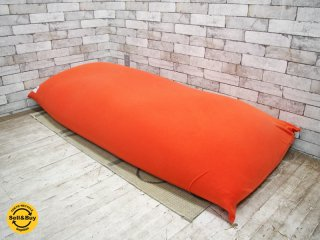 ヨギボー yogibo マックス MAX ビーズ ソファ クッション オレンジ ●