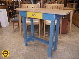 スキップアビートガーデン SKIP A BEAT GARDEN 温故知新 シャビーペイント 木製コンソールテーブル デスク ■