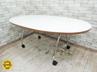 ヴィトラ Vitra モジュラーシステム アドホック Ad Hoc シリーズ ミーティングテーブル オーバル 会議テーブル ホワイト W180 ●