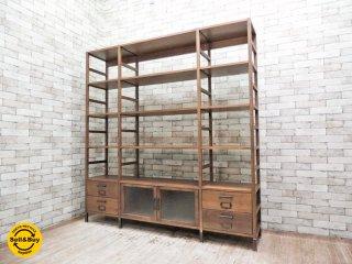 ジャーナルスタンダードファニチャー journal standard Furniture ノマド ユニットシェルフ ガラスキャビネット NoMad UNITE SHELF GLASS CABINET●
