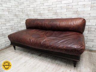 ジャーナルスタンダードファニチャー journal standard Furniture ナンシー NANCY レザーソファ 牛革 フェザークッション W170cm レトロ インダストリアル ●