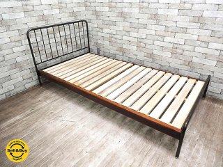 ジャーナルスタンダードファニチャー journal standard Furniture サンク SENS シングルベッドフレーム ミリタリー アイアンフレーム インダストリアル ●