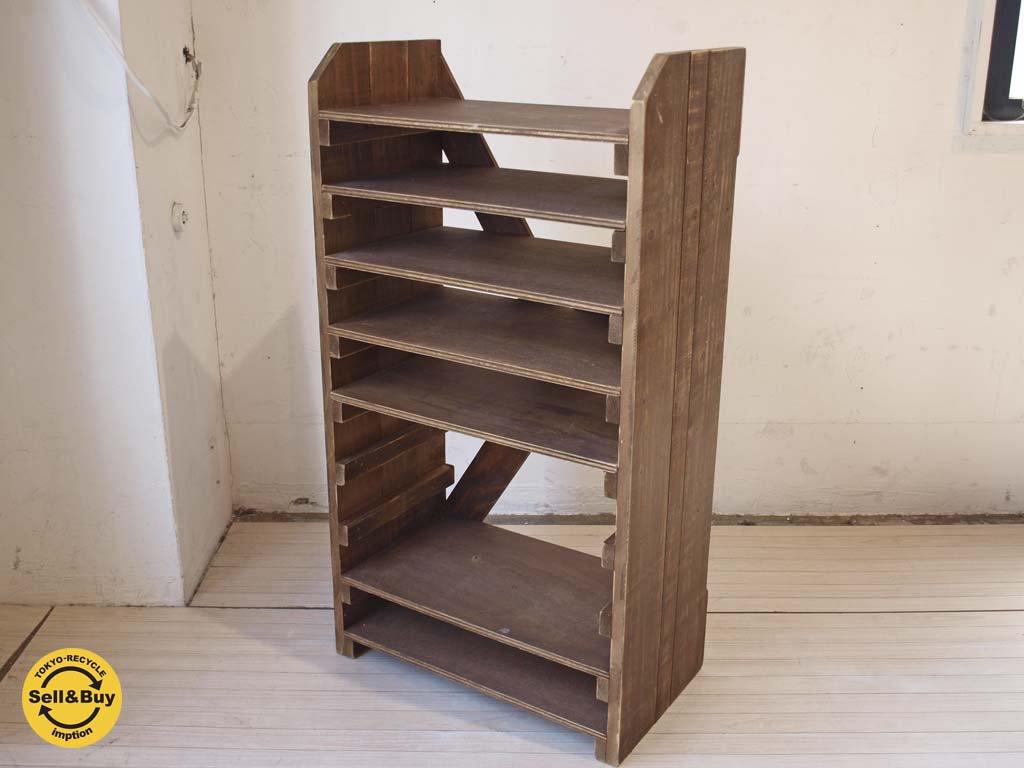 スキップ ア ビート ガーデン SKIP A BEAT GARDEN 温故知新 木製シェルフ スライド棚 可動棚4枚 ★