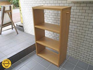 カリモク karimoku オーク材 オープンシェルフ 木製ラック ナチュラルウッド ■