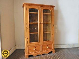 ペニーワイズ THE PENNY WISE パイン材 カップボード ブックケース キャビネット 食器棚 飾り棚  UKカントリー 英国 ◎