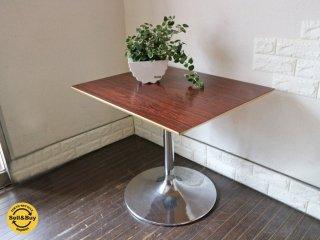 D&DEPARTMENT オリジナル カフェテーブル ローズウッド 調天板 × ラッパ脚 廃番アイテム D&D カフェインテリア ◎