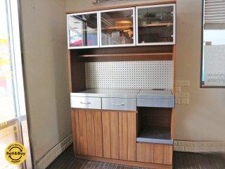 ウニコ unico ストラーダ STRADA キッチンボード レンジボード 食器棚 W120cm 廃盤 ◎
