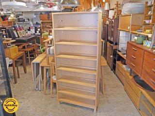 無印良品 MUJI 組み合わせて使える木製収納 タモ材 シェルフ 本棚 ナチュラル A ■