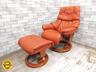 <img class='new_mark_img1' src='https://img.shop-pro.jp/img/new/icons20.gif' style='border:none;display:inline;margin:0px;padding:0px;width:auto;' />エコーネス EKORNES タンパ TAMPA ストレスレスチェア リクライニングチェア + オットマン 北欧家具 ノルウェー ●