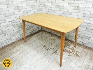 IDC 大塚家具 シネマ オーク無垢材 ダイニングテーブル ●