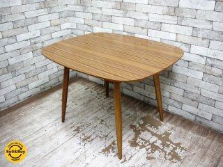 カリモク60+ karimoku Dテーブル ラバートリー ウォールナットカラー ミッドセンチュリー ●