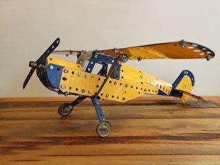 英国 イギリス製 MECCANO ブリキ 飛行機 オブジェ 模型飛行機 ヴィンテージ ◎