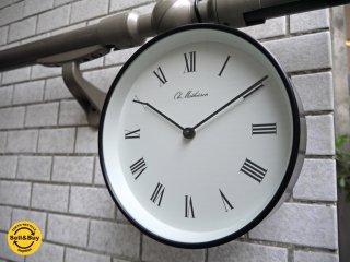 オーレ・マティーセン Ole Mathiesen ROMAN-DIAL ウォールクロック 掛時計 ブラック Φ215 北欧 デンマーク ■