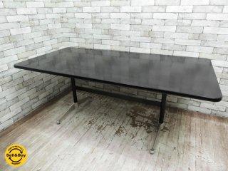 ハーマンミラー HermanMiller コントラクトテーブル レクタングル ブラック w180cm 希少サイズ ミッドセンチュリー ●