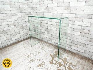 モーダエンカーサ moda en casa クーペ コンソールテーブル coupe console table ガラス シンプルモダン ●