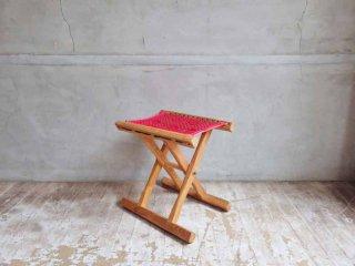 チーク材 フォールディング スツール 折り畳み椅子 ♪