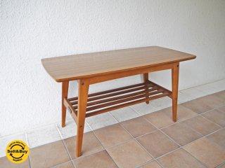 カリモク60 karimoku60 リビングテーブル Sサイズ ウォールナットカラー デコラトップ ミッドセンチュリーデザイン 定価¥25,920- ローテーブル ラック付き コーヒーテーブル ◇