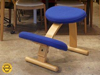 リボ Rybo バランスイージー Balans EASY デスクチェア 学習椅子 ブルー 青 北欧 ノルウェー ■