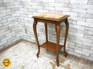 大理石 花台 コンソールテーブル 猫脚 ヨーロピアンクラシカルスタイル  ●
