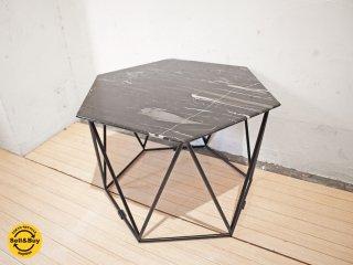 アルモニア Armonia トリアス Trias マーブル センターテーブル 大理石天板 ヘキサゴン 六角形 ローテーブル コーヒーテーブル サイドテーブル ★