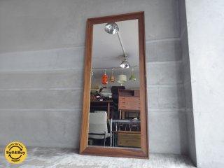 ウォールナット材 姿見 全身鏡 ウォールミラー 壁掛け H180cm ♪