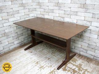 無印良品 MUJI リビングでもダイニングでも使えるテーブル ウォールナット材 美品 ◎