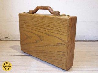プレスト PRESTO 木製アタッシュケース Wooden Attache Case ヴィンテージ 未使用品 ★