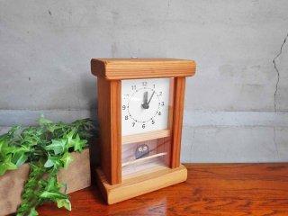 キコリデザイン研究所 KICORI 枝のフクロウ時計 置き時計 クオーツ時計 ハンドメイド カラマツ材 手作り時計工房 ♪