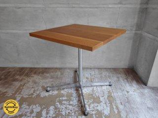グリニッチ greeniche オーク無垢材天板 スタンダード カフェテーブル Xレッグ ナチュラル 正方形♪