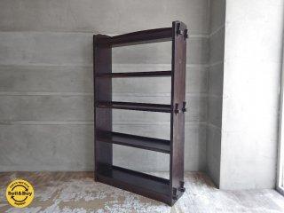 ジャパンビンテージ 日本の古い木味の本棚 ブックシェルフ オープンシェルフ 楔留め ♪