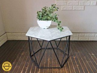 アルモニア Armonia トリアス Trias マーブル センターテーブル 大理石天板 ヘキサゴン 六角形 ローテーブル コーヒーテーブル サイドテーブル ◎